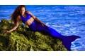Хвост русалки синего цвета