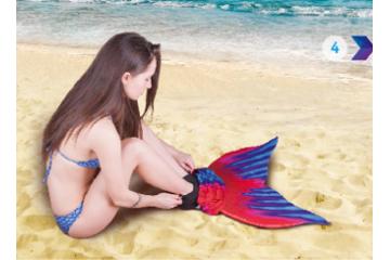 Как правильно одевать (надевать) хвост русалки