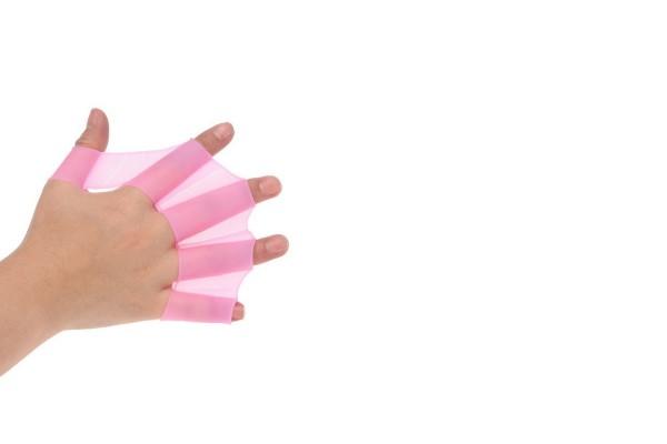 Силиконовая перепонка на руку розового цвета
