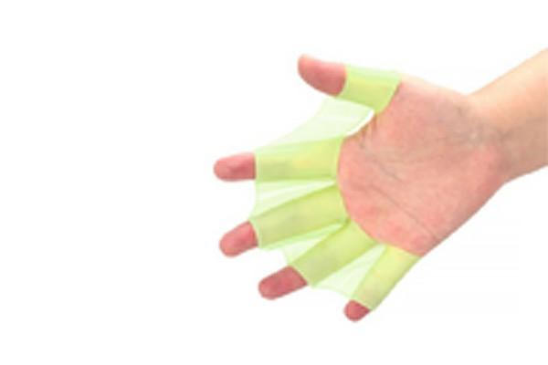 Силиконовая перепонка на руку зеленого цвета